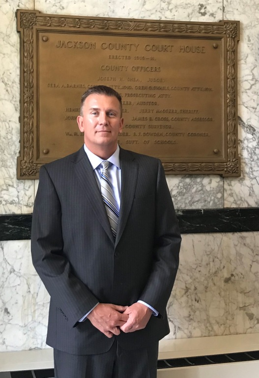 Portrait of Special Agent Todd Prewitt, Indianapolis Division, Bloomington Resident Agency. Prewitt was instrumental in resolving a 1999 molestation case that occurred in his hometown when he was an Indiana State Police trooper.