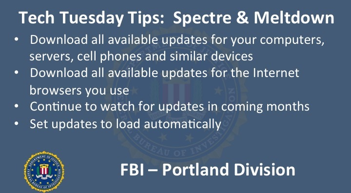 Tech Tuesday Tips: Spectre & Meltdown