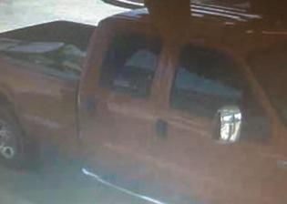 Red extended cab pick-up truck used to abduct an adult female from South County Park in Cape Girardeau on May 12, 2015.