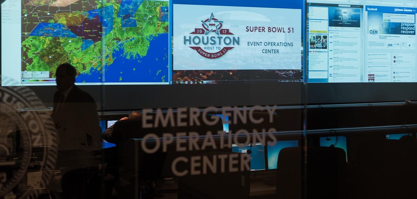 Super Bowl LI Command Post at Houston Emergency Center