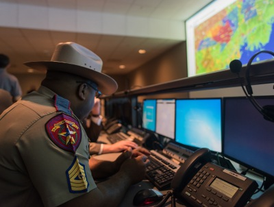 Highway Patrol Officer at Houston Super Bowl LI Command Post
