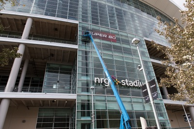 NRG Stadium Prepares for Super Bowl LI