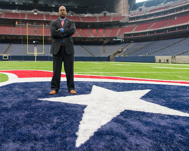 Mark Webster on Field at NRG Stadium