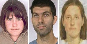 Three fugitives from the Operation Backfire eco-terrorism investigation. Rebecca Rubin turned herself over to the FBI at the international border in Washington state in December 2012.