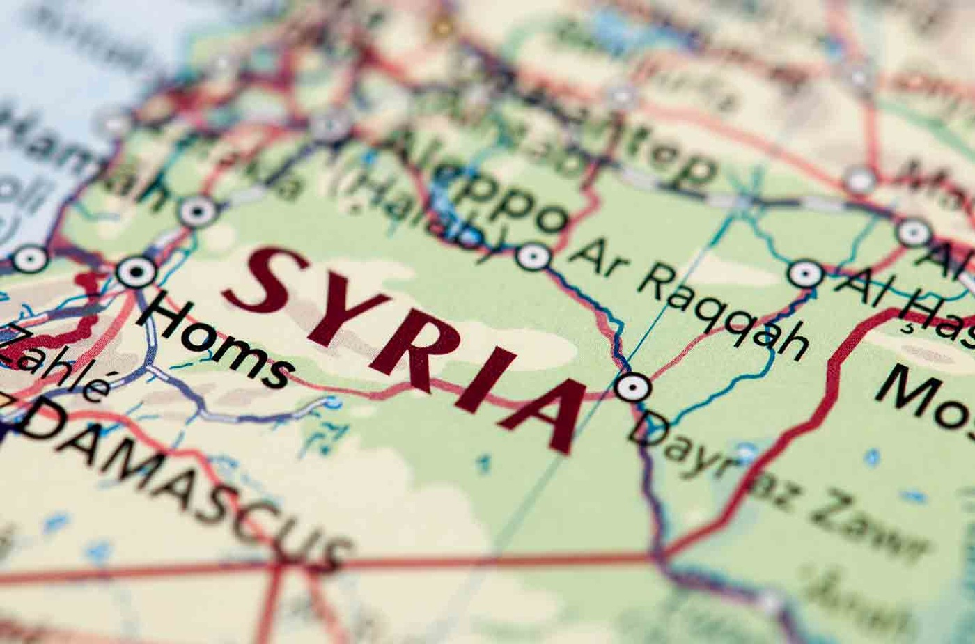 Map of Syria (Stock Image)