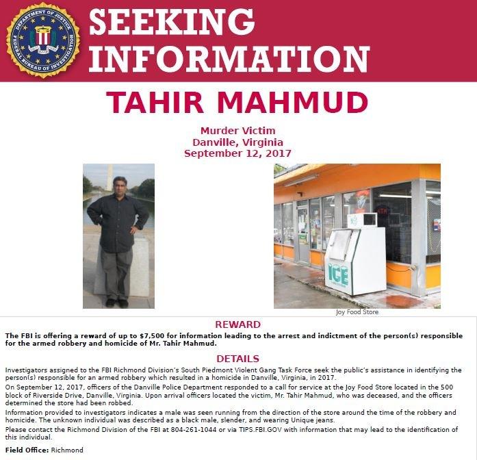 Tahir Mahmud poster