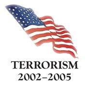 "American Flag with Words: ""Terrorism 2002-2005"""