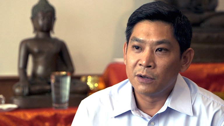Royal Thai Police Col. Thakoon Nimsomboon, who runs daily operations of the Thailand Internet Crimes Against Children Task Force, or TICAC.