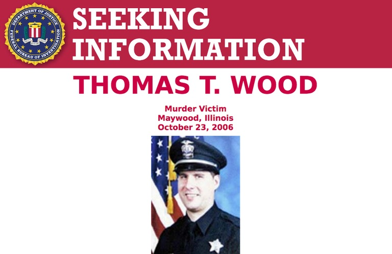 Screenshot of top portion of Seeking Information poster for Thomas T. Wood