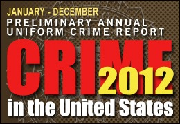 Banner for the Preliminary Annual Uniform Crime Report for 2012.