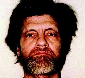 Mugshot of Theodore Kaczynski, the Unabomber, following his arrest on April 3, 1996.