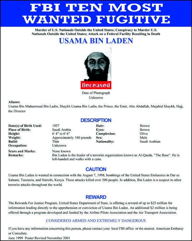 Usama bin Laden Poster