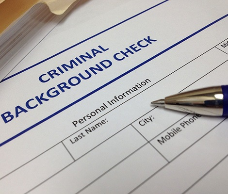 Form used by the Criminal Justice Information Services (CJIS) Division to initiate and perform a criminal background check.