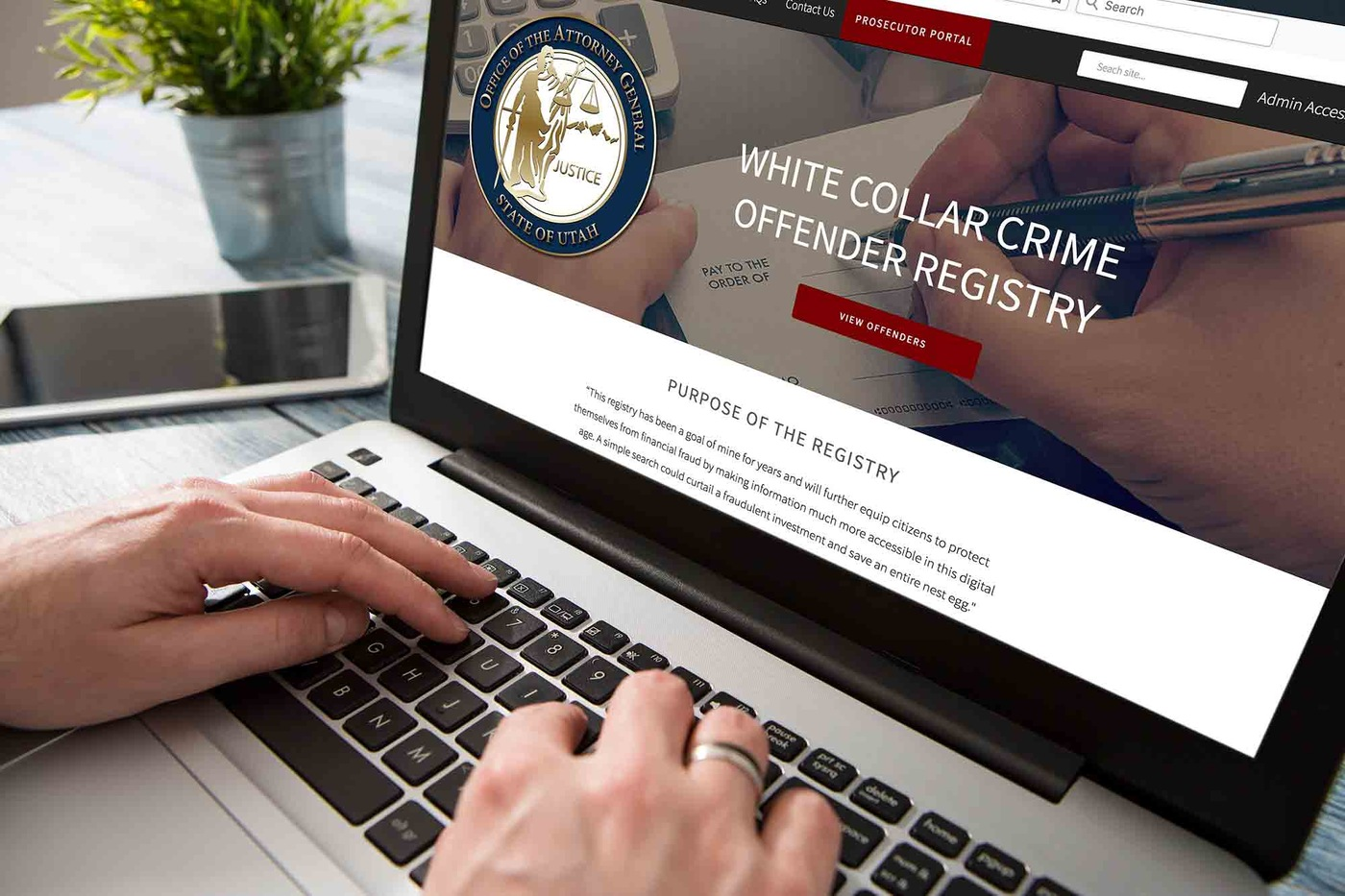 White-Collar Crime Offender Registry Website (Stock)