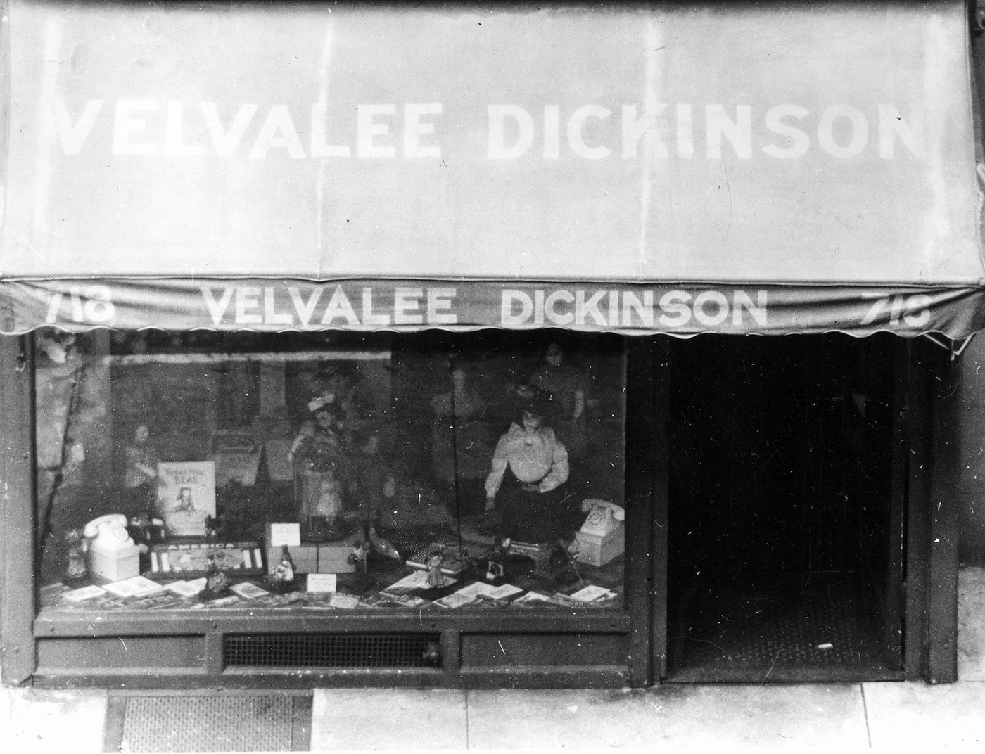 Doll shop in New York City owned by Velvalee Malvena Dickinson and used as a front for her espionage on behalf of Japan during World War II.