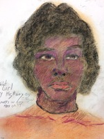Recent drawing by serial killer Samuel Little based on memories of his murder victims. Unmatched confession; black female killed in 1974 in Cincinnati, Ohio.