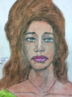 Recent drawing by serial killer Samuel Little based on memories of his murder victims. Unmatched confession; black female, age 40; killed in 1993 in Las Vegas, Nevada.