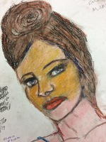 Recent drawing by serial killer Samuel Little based on memories of his murder victims. Unmatched confession; black female, age 22; killed in 1971 in Miami, Florida; victim possibly called aLinda.a