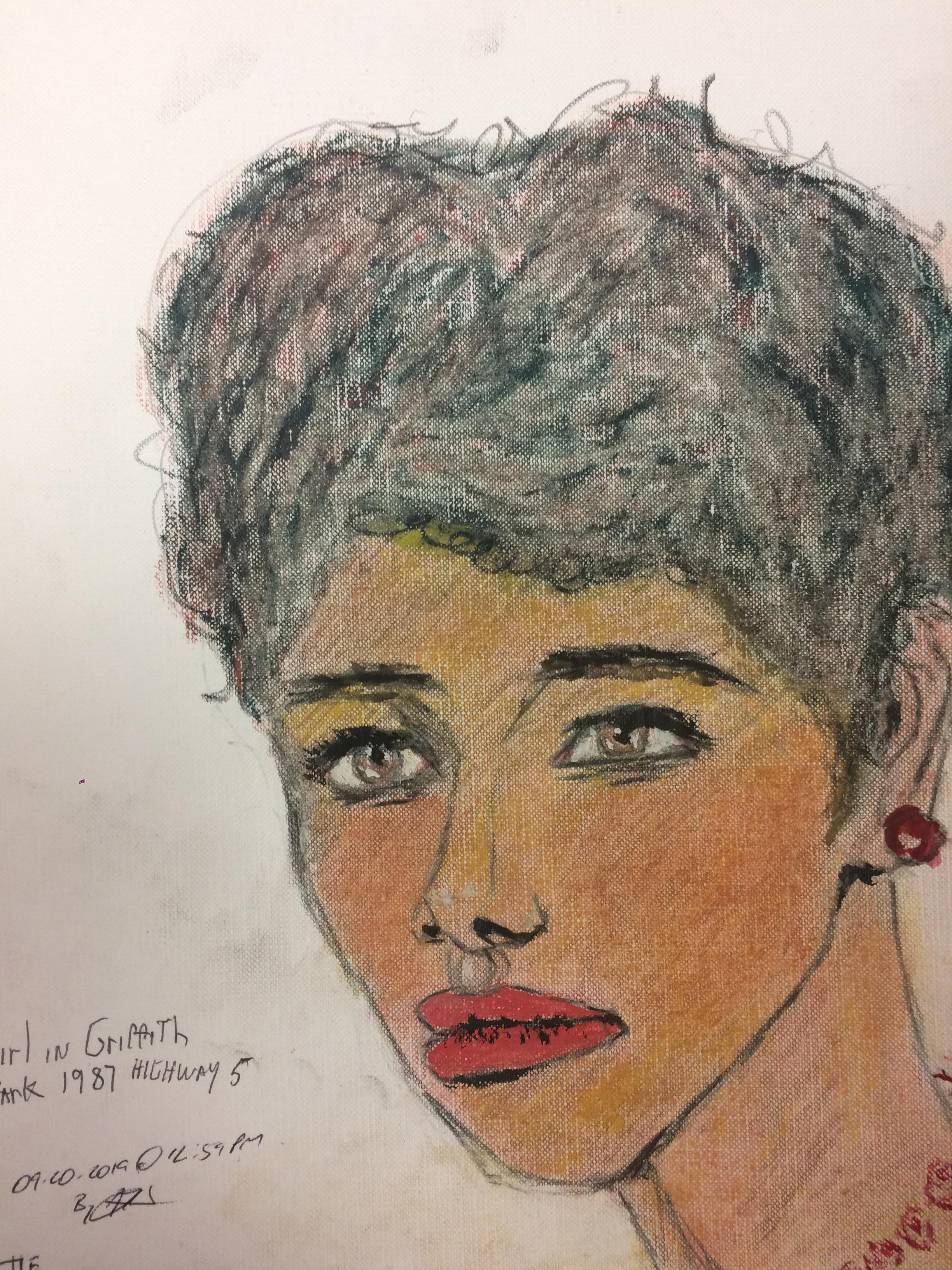 Samuel Little Drawing of Black Female Victim (Killed in 1987, Los Angeles)