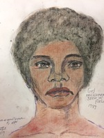 Recent drawing by serial killer Samuel Little based on memories of his murder victims. Unmatched confession; black female; killed in 1992 or 1993 in Los Angeles, California.