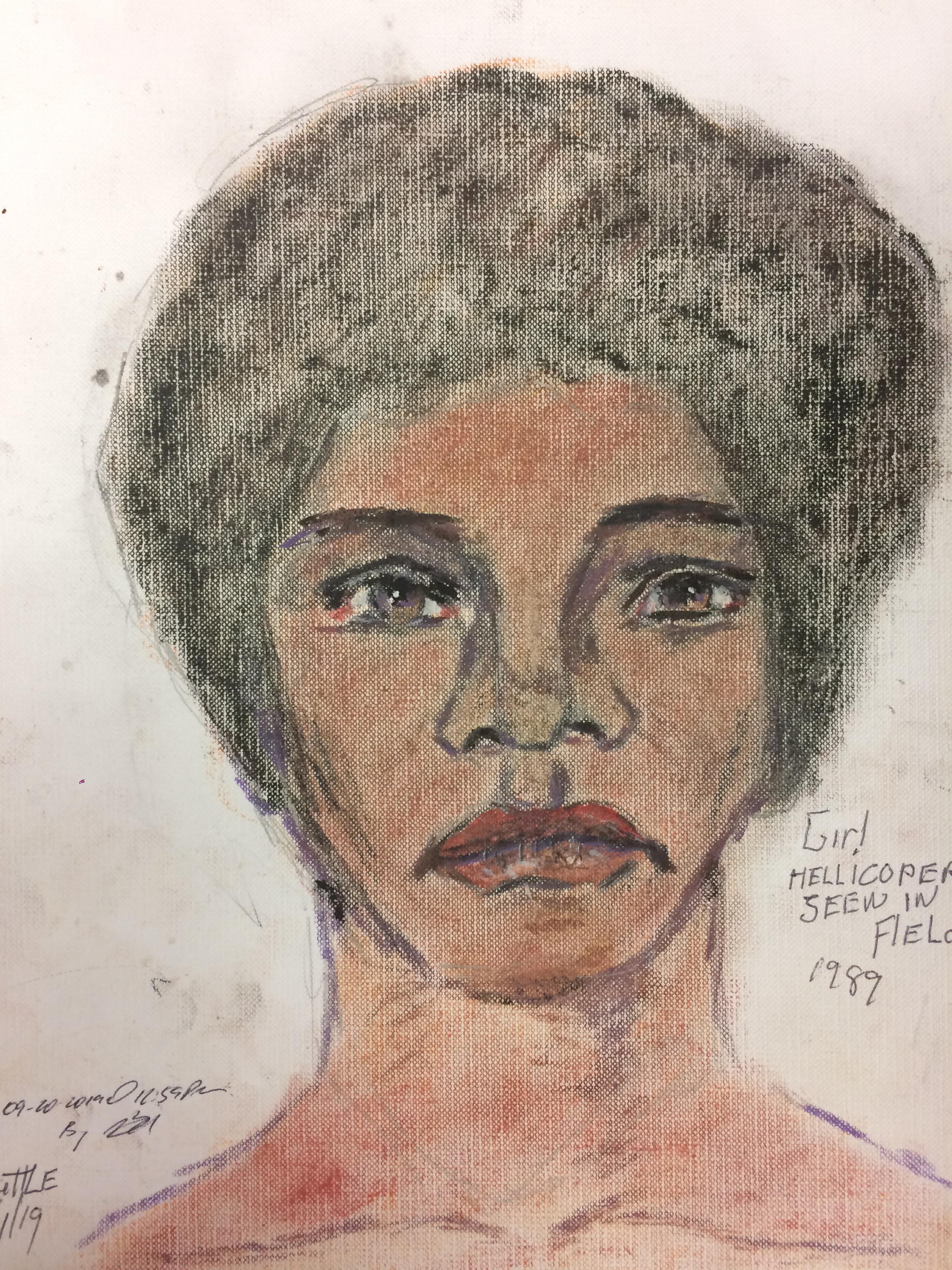 Samuel Little Drawing of Black Female Victim (Killed in 1992 or 1993, Los Angeles)