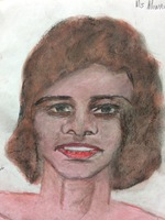 Recent drawing by serial killer Samuel Little based on memories of his murder victims. Unmatched confession; black female, age 24; killed between 1987 and the early 1990s in Monroe, Louisiana.