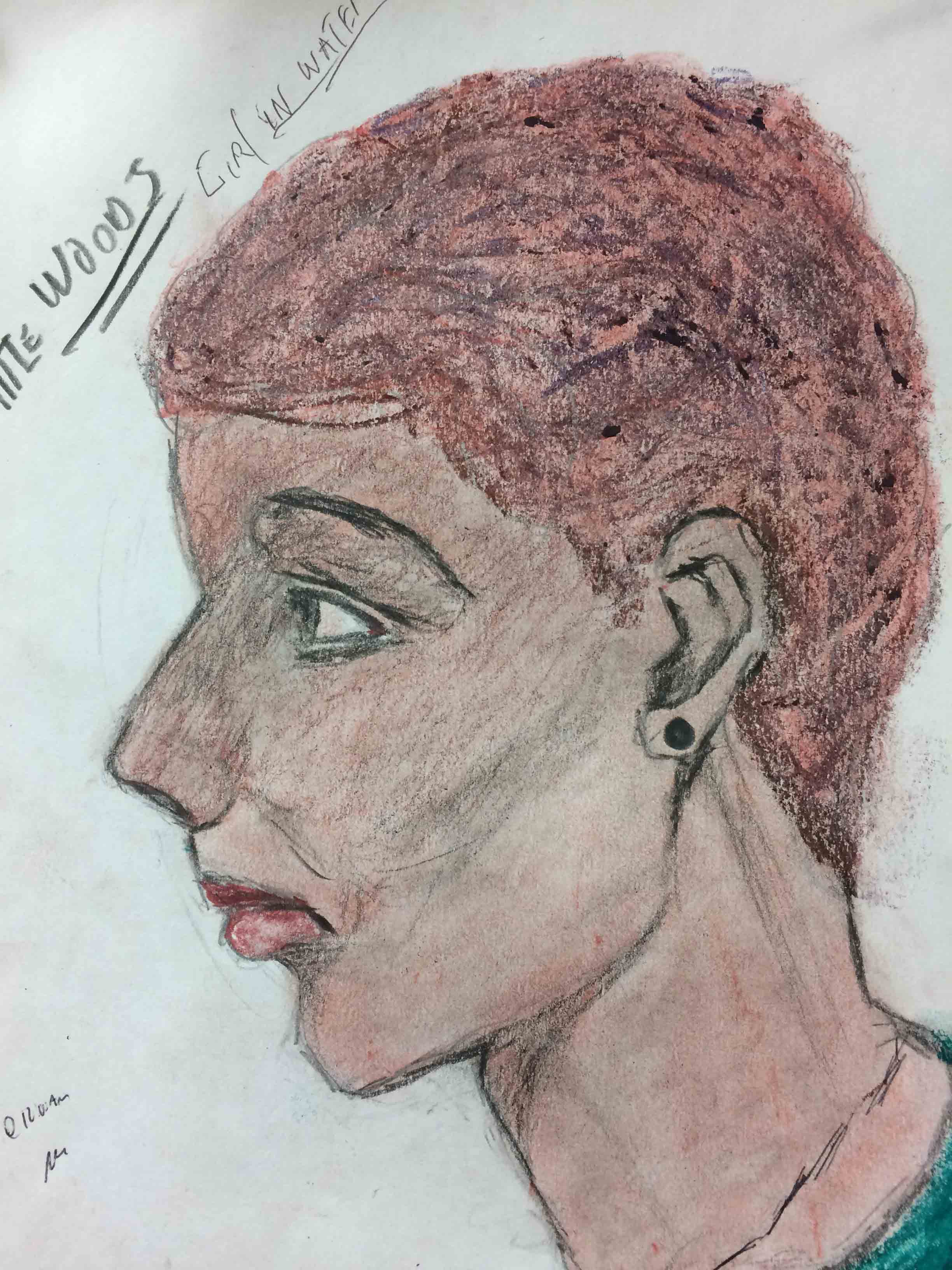 Samuel Little Drawing of Black Female Victim (Killed in 1982, New Orleans)