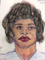 Recent drawing by serial killer Samuel Little based on memories of his murder victims. Unmatched confession; black female; killed in 1977 or 1978 in Plant City, Florida.