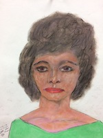 Recent drawing by serial killer Samuel Little based on memories of his murder victims. Confession matched to a Jane Doe; black female between 28-29 years old; killed in 1984 in West Memphis, Arkansas; victim picked up in Memphis, Tennessee.