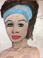 Recent drawing by serial killer Samuel Little based on memories of his murder victims. Unmatched confession; black male, age, 18; killed in 1971 or 1972 in Miami, Florida; victim possibly called aMary Anna or aMarianne.a
