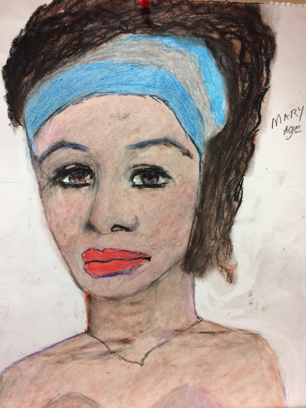 Samuel Little Drawing of Black Male Victim Mary Ann (Killed in 1971 or 1972, Miami)