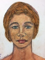 Recent drawing by serial killer Samuel Little based on memories of his murder victims. Unmatched confession; white female; killed in 1984 in Covington, Kentucky; met victim in Columbus, Ohio.