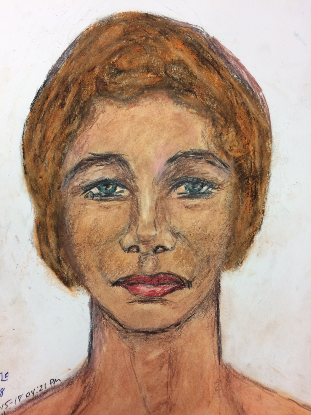 Samuel Little Drawing of White Female Victim (Killed in 1984, Covington, Kentucky)