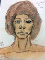 Recent drawing by serial killer Samuel Little based on memories of his murder victims. Unmatched confession; white female; killed in 1970 or 1971 in Homestead, Florida.