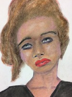 Recent drawing by serial killer Samuel Little based on memories of his murder victims. Unmatched confession; white female between 23-25 years old; killed in 1996 in Los Angeles, California.
