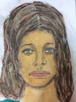 Recent drawing by serial killer Samuel Little based on memories of his murder victims. Confession matched to a Jane Doe; white female between 20-25 years old; killed in 1972 in Prince Georgeas County, Maryland; victim possibly from Massachusetts.