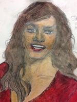 "Recent drawing by serial killer Samuel Little based on memories of his murder victims. Confession matched to a Jane Doe; white female, possibly of Cuban descent, between 25-35 years old; killed in 1971 in Kendall, Florida; victim possibly called ""Saraha or aDonna.a"