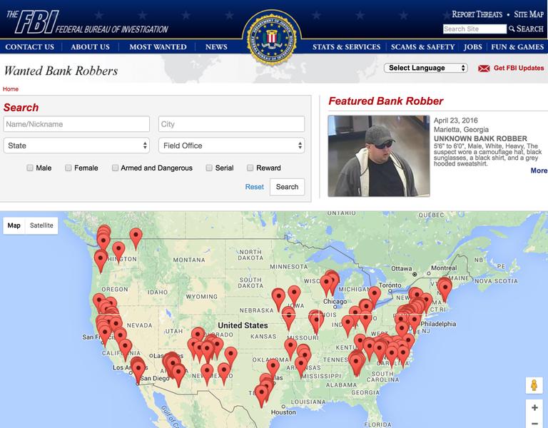 Bank Robbery FBI