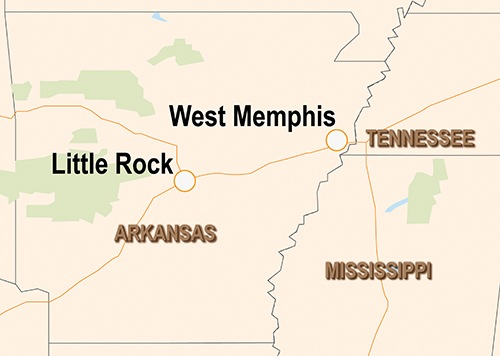 West Memphis Map