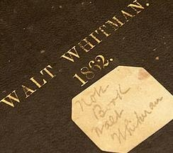 Whitman Notebook Cover