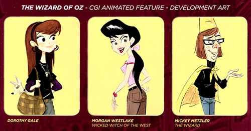 Development art depicting characters in the movie OZ3D—an animated version of the Wizard of Oz—which was never made by Gigapix Studios even after hundreds of victims were lured into investing millions of dollars in the project.