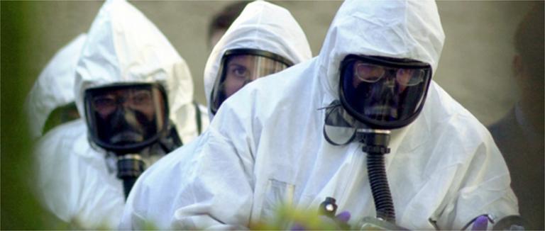 FBI Personnel in HAZMAT Suits in November 2001 (AP Photo)