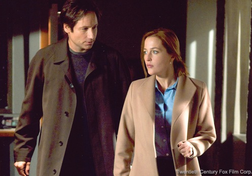 David Duchovny and Gillian Anderson, stars of The X-Files television show, which featured agents investigating paranormal phenomenon. Courtesy of the Twentieth Century Fox Film Corporation.