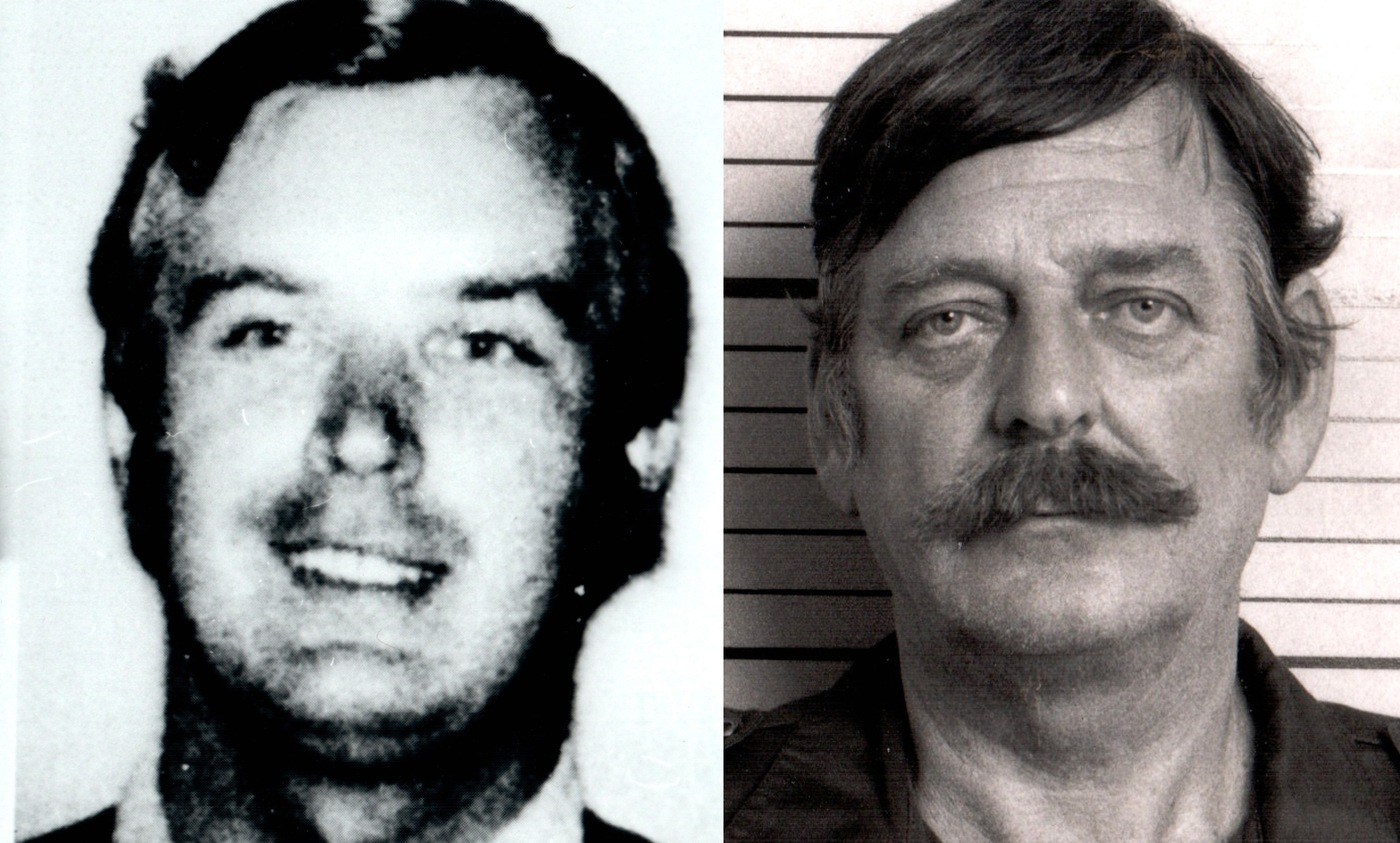 Composite image of Polish intelligence agent Marian Zacharski (left) and mug shot of William Holden Bell, the U.S. engineer he recruited.