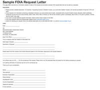 Sample FOIA Request Letter U2014 FBI  Sample Application Letter