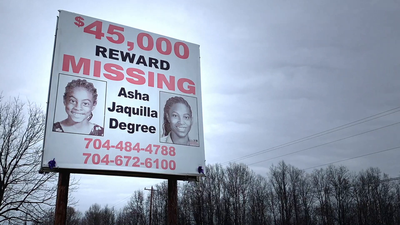Reward Sign for Asha Degree Near Shelby, N.C.