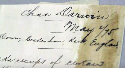FBI Returns Darwin Letter to Smithsonian Archives