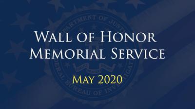 2020 FBI Wall of Honor Memorial Service