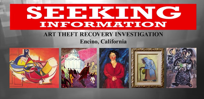 $25,000 Reward in 2008 Encino Art Theft