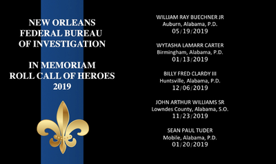 FBI New Orleans Recognizes Peace Officers Memorial Day